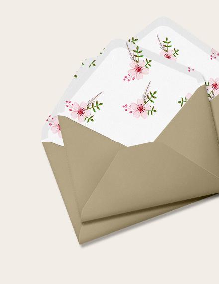 Vintage Floral Wedding Envelope Download