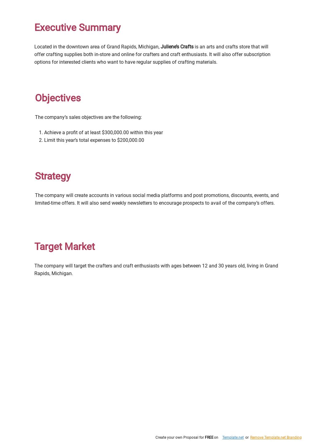 Annual Sales Plan Template [Free PDF] - Google Docs, Word, PDF