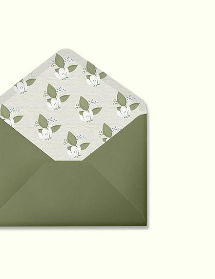 Simple Vintage Wedding Envelope