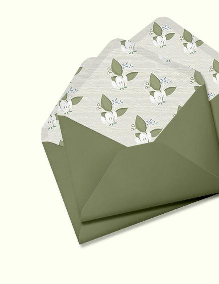 Vintage Wedding Envelope Download