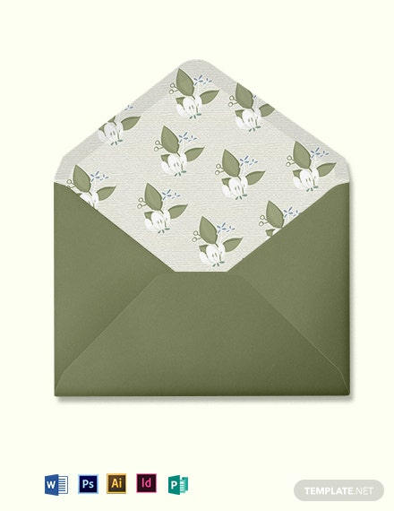 Vintage Wedding Envelope Template