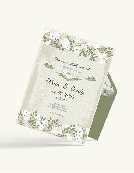 Sample Vintage Wedding Invitation Card