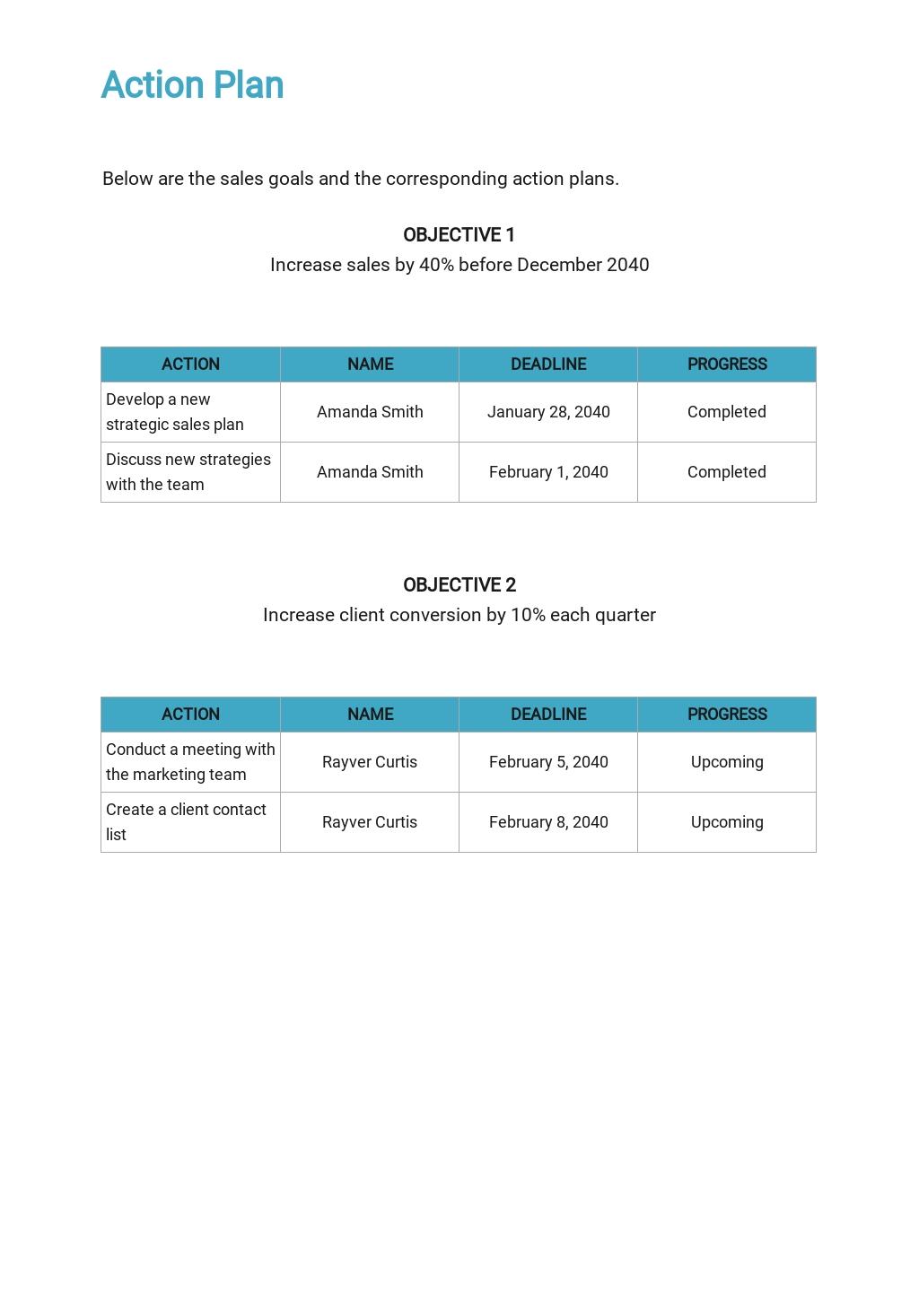 Free Basic Sales Plan Template 4.jpe