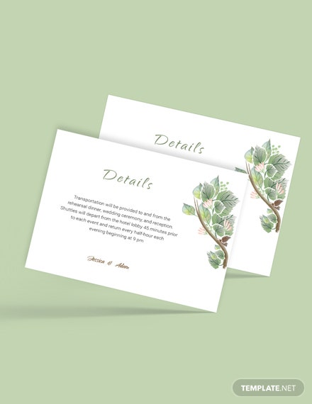 Download Fall Wedding Details Card Template