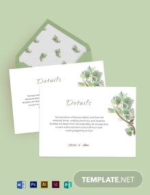 Fall Wedding Details Card Template