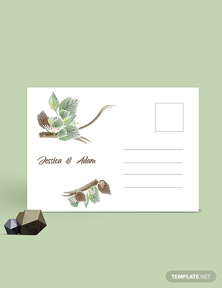 Download Fall Wedding Post Card Template