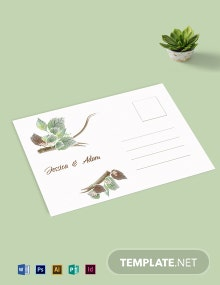 Fall Wedding Post Card Template
