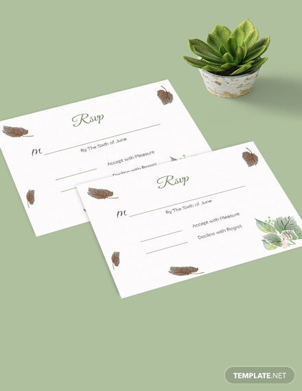 Download Fall Wedding RSVP Card Template