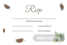 Fall Wedding RSVP Card Template