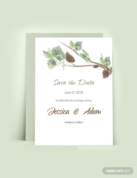 Download Fall Wedding Save The Date Card Template