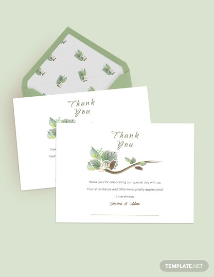 Download Fall Wedding Thank You Card Template