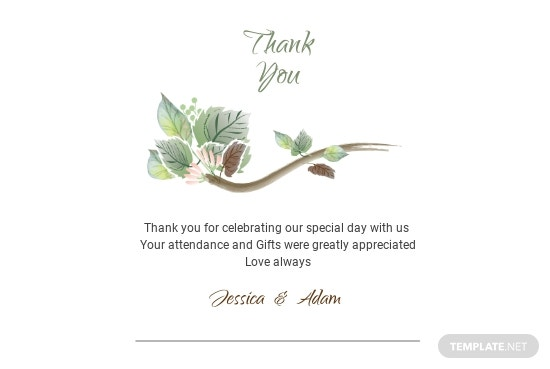 Fall Wedding Thank You Card Template [Free JPG] - Illustrator, InDesign, Word, PSD, Publisher