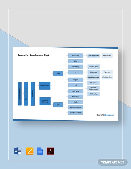 Free Corporation Organizational Chart Template