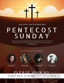 Free Pentecost Sunday Flyer Template