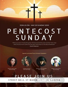 Pentecost Sunday Flyer Template