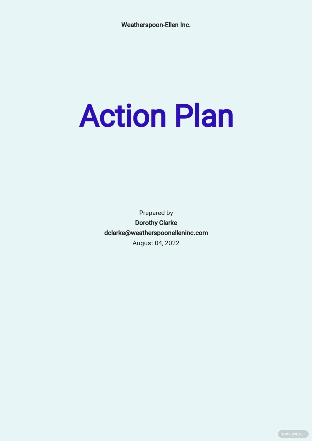 Daily Sales Action Plan Template