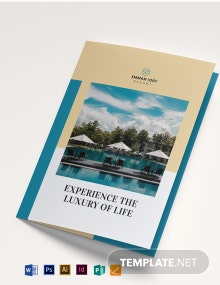 Hill Resort Bi-Fold Brochure Template