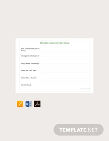 Free Monthly Sales Action Plan Template
