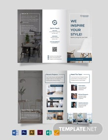 Interior Architect Tri-fold Brochure Template