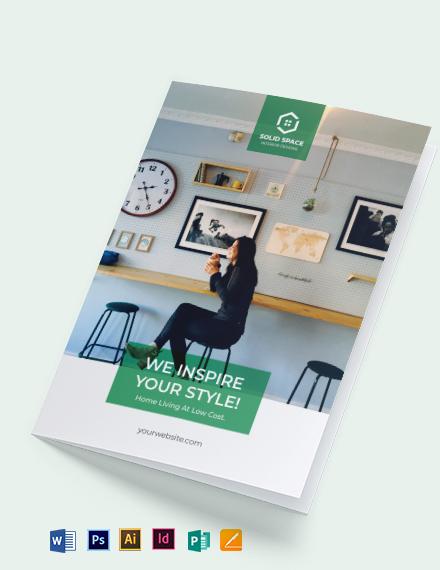 Interior Contractor Bi-Fold Brochure Template
