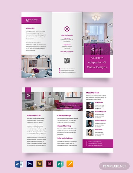 Interior Design Consultancy Tri-Fold Brochure Template