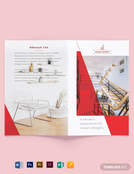 Interior Designer Bi-Fold Brochure Template