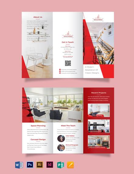 Interior Designer Tri-Fold Brochure Template