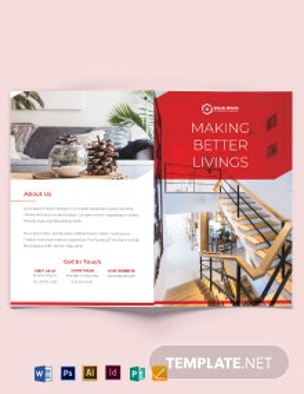 Interior Studio Bi-Fold Brochure Template