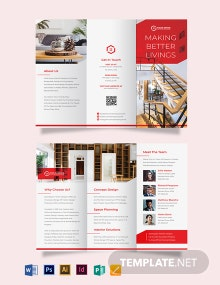 Interior Studio Tri-Fold Brochure Template