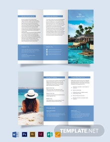 Island Resort Tri-Fold Brochure Template