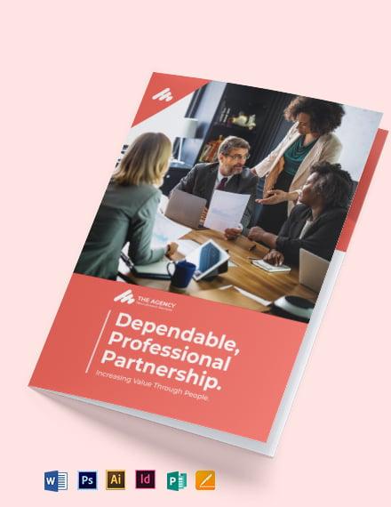 manpower agency bi fold brochure template