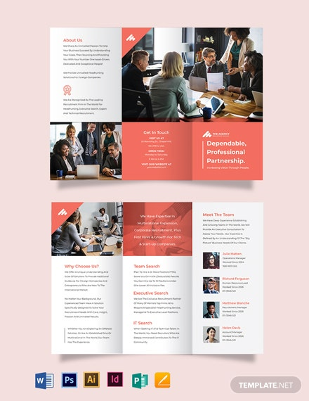 Manpower Agency Tri-Fold Brochure Template