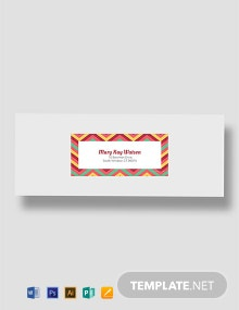 Free Chevron Address Label Template