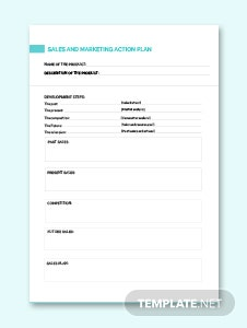 Sales and Marketing Action Plan Template