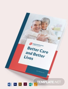 Medical Home Care Bi-Fold Brochure Template