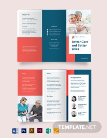 Medical Home Care Tri-Fold Brochure Template