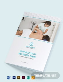 Medical Spa Bi-Fold Brochure Template