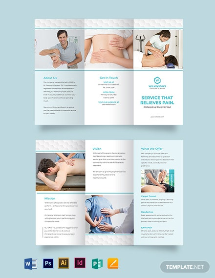 medical spa tri fold brochure template
