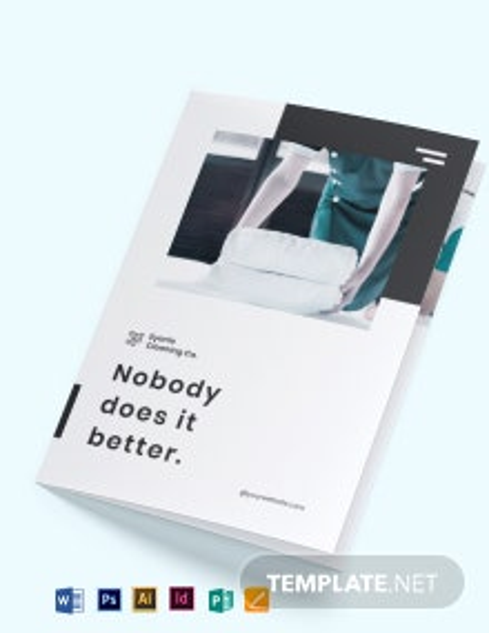 Modern Cleaning Company Bi-Fold Brochure Template