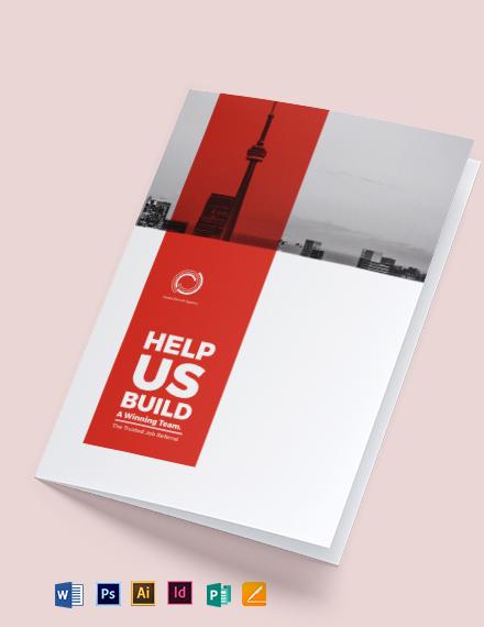 Modern Company Profile Bi-Fold Brochure Template