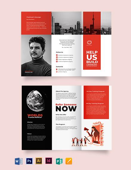 Modern Company Profile Tri-Fold Brochure Template