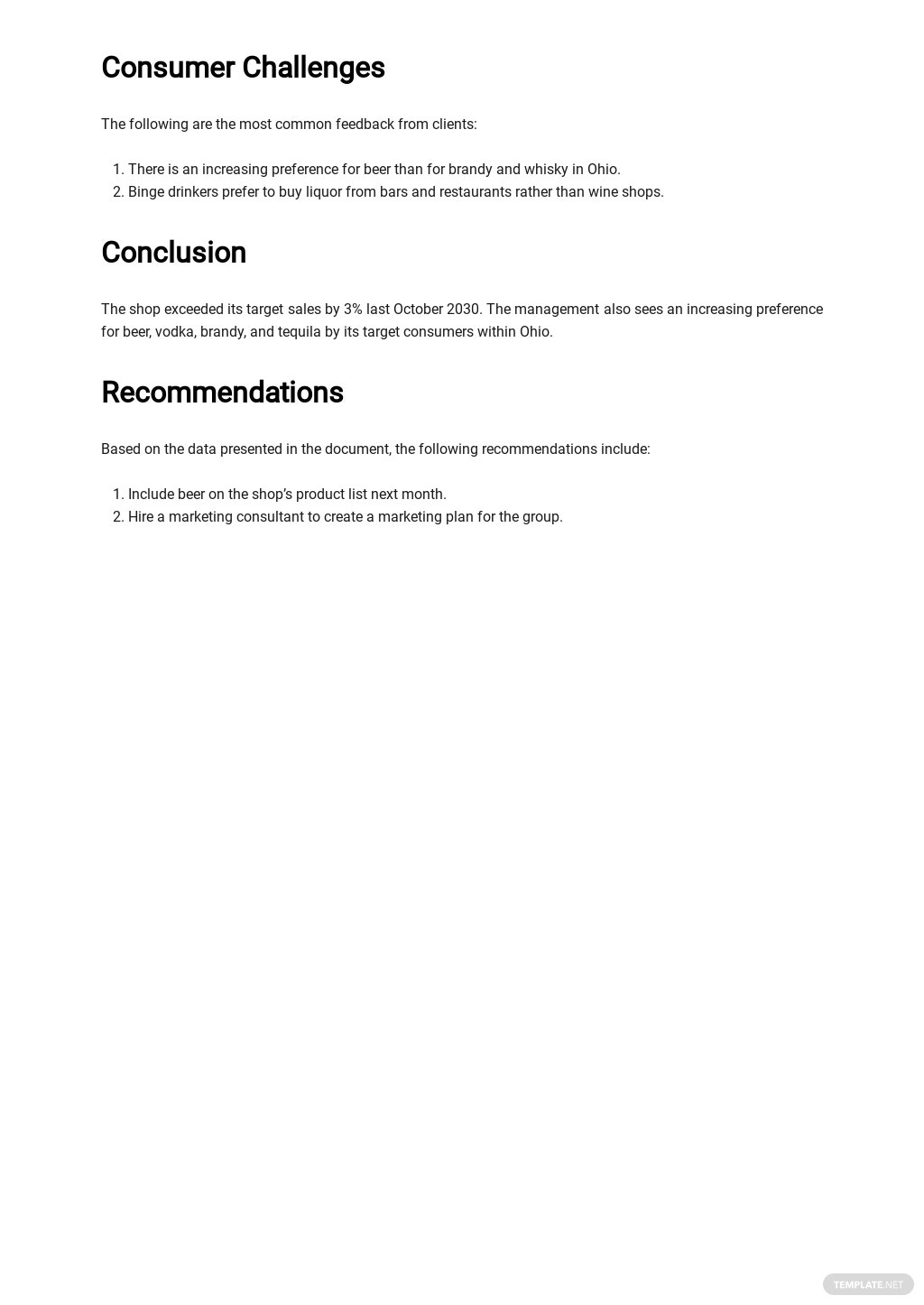 Free Sales Action Plan Report Template 3.jpe