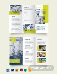 Modern Construction Tri-Fold Brochure Template