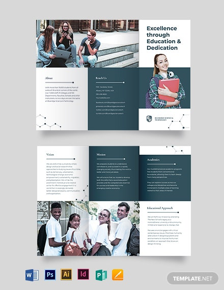 Modern Education Tri-Fold Brochure Template