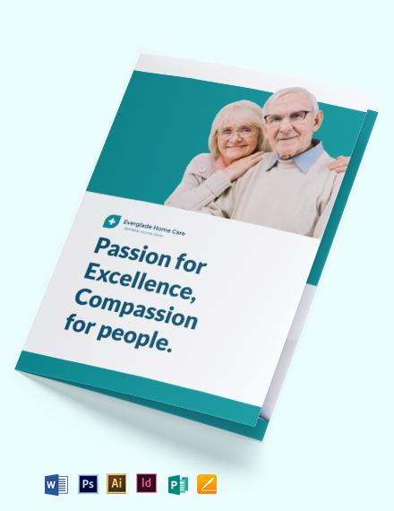 Modern Home Care Bi-Fold Brochure Template