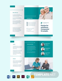 Modern Home Care Tri-Fold Brochure Template