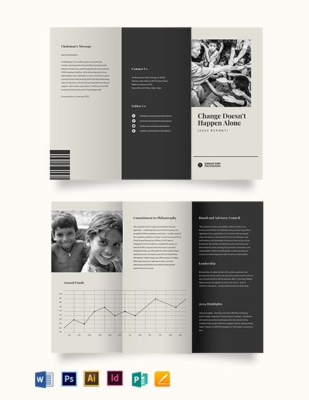 Non Profit Annual Tri-Fold Brochure Template
