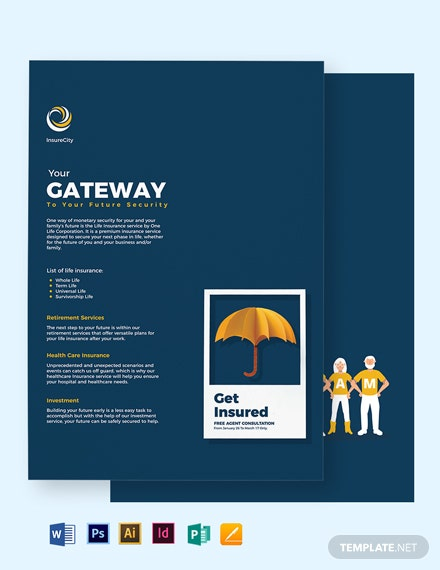 one page company profile bi fold brochure template