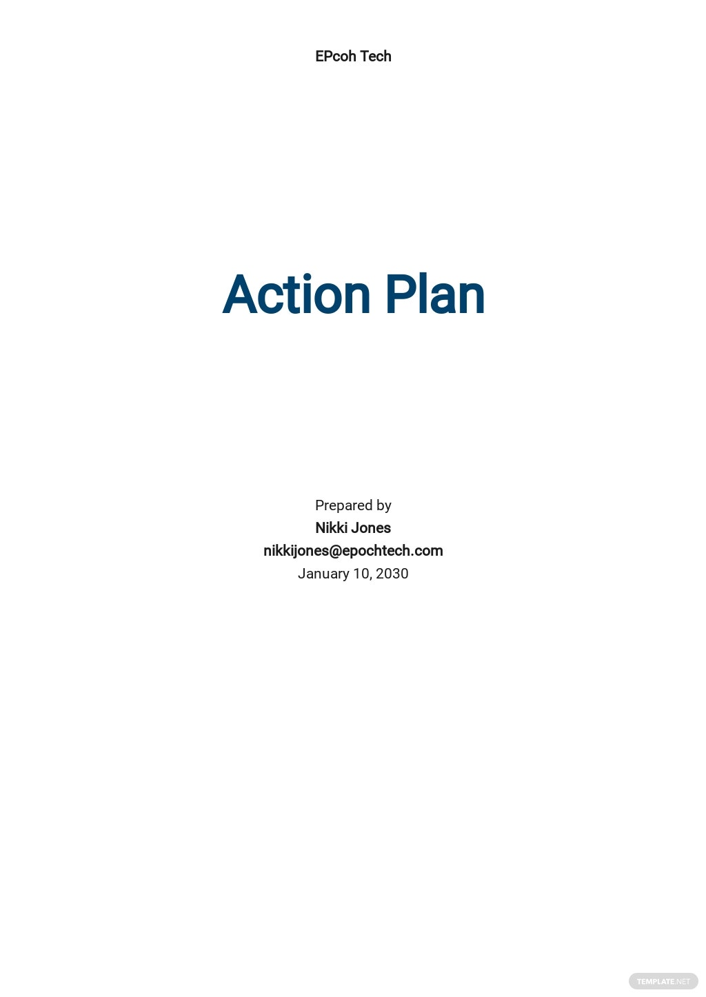 Basic Action Plan Template