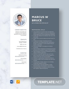 Data Migration Specialist Resume Template